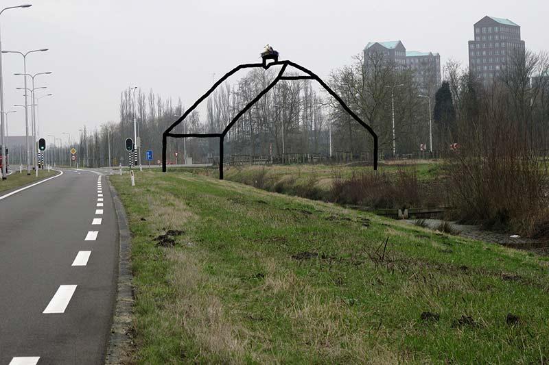 Uitvoering van een kunstwerk van André Pielage voor de Wijk Vathorst in Amersfoort - Uiverhoeve.